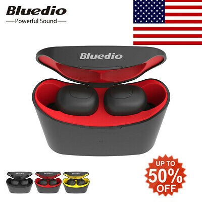 Bluedio T-elf Air pod Bluetooth 5.0 Sports Wireless Earphones with charging box#