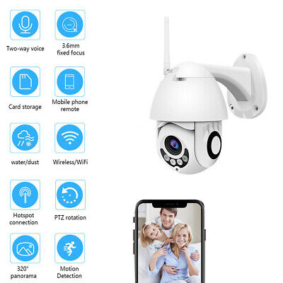 1080P Wireless WIFI IP Camera Network Cam CCTV In/Outdoor Home Baby Security UK
