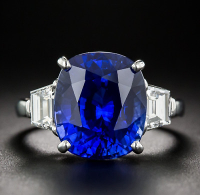 5.00 Ct Oval Cut Vintage Sapphire Gemstone Engagement Antique Ring