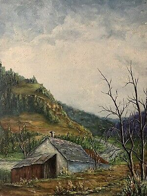 Jean Fourie (1927-2015) Large French Modernist Oil On Canvas - Rural Landscape