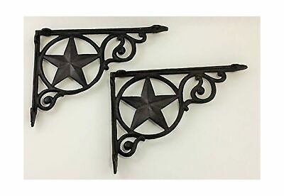 Aunt Chris' Products - Heavy Cast Iron - Star Shelf Bracket (Lot/Set of 2) - ...