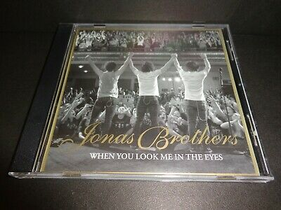 WHEN YOU LOOK ME IN THE EYES by JONAS BROTHERS-Rare Collectible Promotional CD