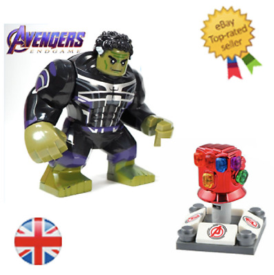 Avengers Endgame hulk with IRON MAN lego fit the infinity gauntlet End Game