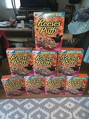 Travis Scott X Reeses Puffs Cereal 100% New Limited Family Box Lmtd Satin