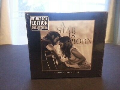 A Star Is Born - Lady Gaga Bradley Cooper (Deluxe Box Set Seaed Cd Book Posters)