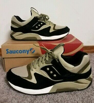 Mens SAUCONY Shoes Sneakers GRID 9000 Black with Red & Grey Accents 701346 | eBay