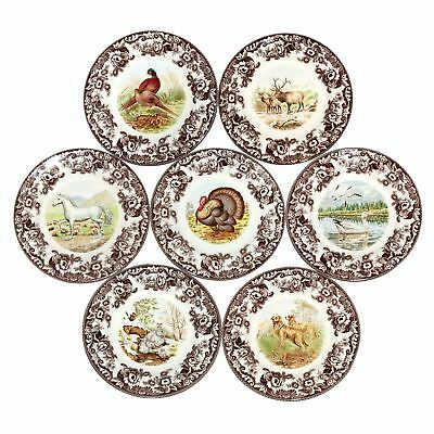 4 x Spode Woodland Earthenware Collectibles Dining Dinner Plates 27cm Diameter