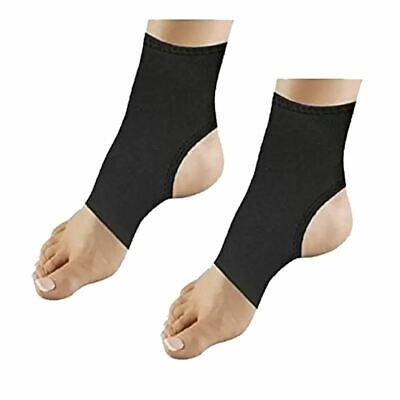 2x Ankle Brace Support Heal Copper Infused Compression Ache Soothe Muscle Relief