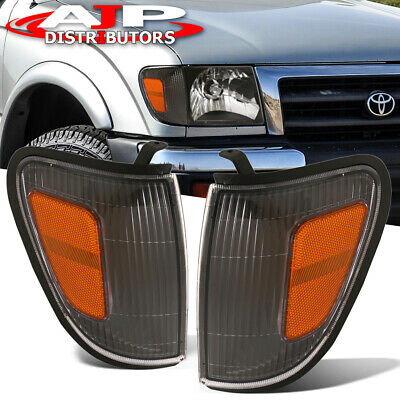 For 97 98 99 00 Tacoma Truck Direct Replacement Black Corner Lamp Lh Rh Pair Jdm