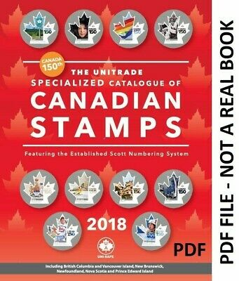 SALE 2018 UNITRADE Specialized Catalgoue Of Canadian Stamps