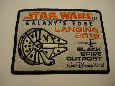 Disney World Star Wars Galaxy's Edge Black Spire Outpost Patch Landing 2019 NEW