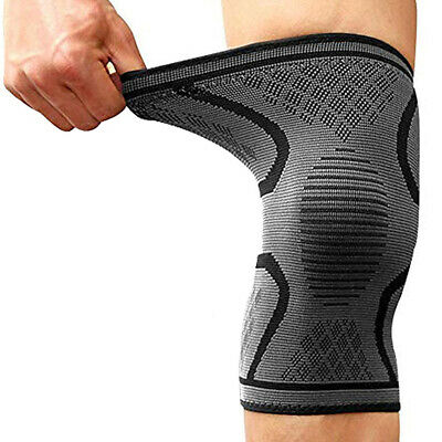 2X Knee Sleeve Compression Brace Support Joint Pain Arthritis Running Sport Gym