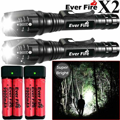 EverFire Aluminum Tactical 350000LM T6 LED 5 Mode Flashlight Zoom Torch Headlamp
