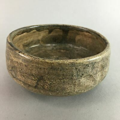 Japanese Ceramic Tea Ceremony Bowl Vtg Pottery Chawan Yakimono GTB536