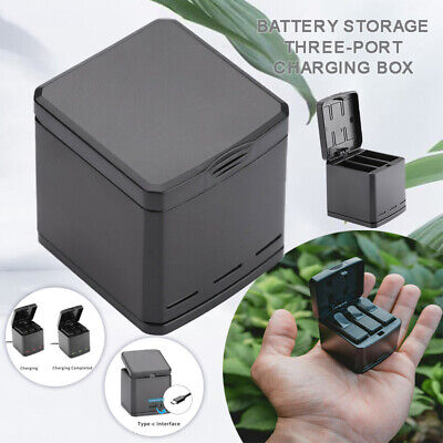 New 3-Way Battery Charger Dock Charging Box LED 2 In 1 For GoPro Hero 5 6 7 - UK