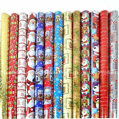 40 x 10M Christmas Gift Wrap Roll Assorted Random Xmas Wrapping Paper Roll