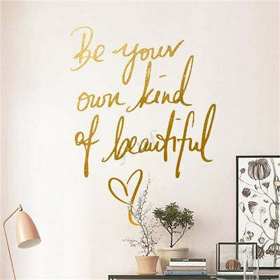 Removable Vinyl Wall Sticker Art Quote Room Decor Be Your Own Kind of Beautiful