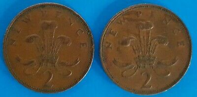 """⭐️EXTREMELY RARE 1971. Pair of Original Old Coins """"New Pence 2p Coin"""" ⭐️"""