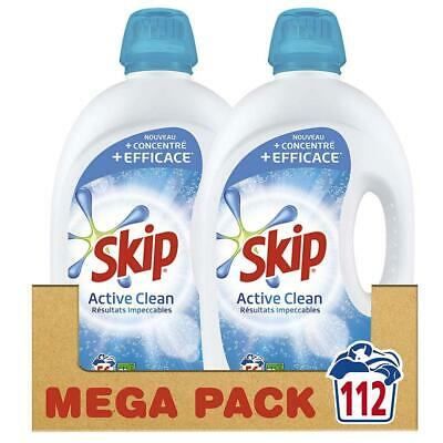 Skip Lessive Liquide Active Clean 112 Lavages (Lot de 2x56 Lavages)
