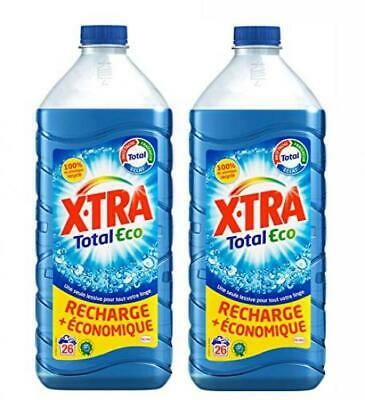 XTRA Total Eco Flacon - Lessive Liquide - Lot de 2 x 1,82L - 43 Lavages