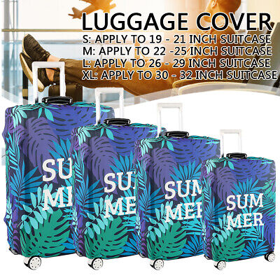 Summer Elastic Luggage Suitcase Cover 18-32 Inch Protective Bag Dustproof Case