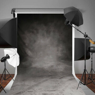 5x10FT Large Retro Grey&Black Wall Studio Photo Photography Backdrop Background