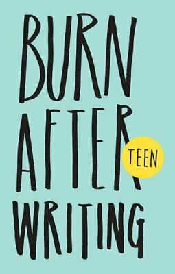 Burn After Writing Teen by Rhiannon Shove 9781908211378 | Brand New