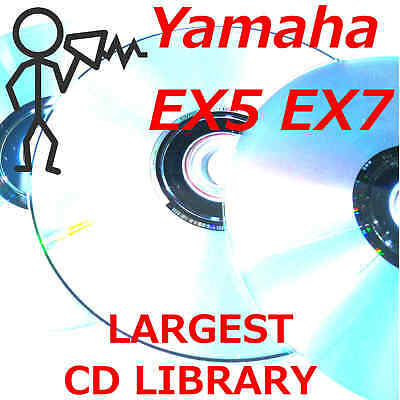 Yamaha EX5 EX5r EX7 Largest Patch Sound Program Library Disk Images on CDROM
