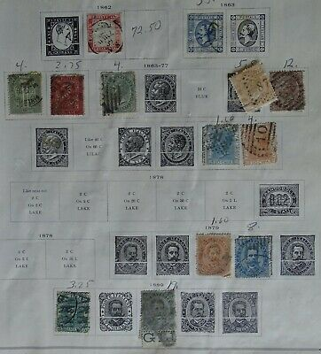 Italy - 60 old stamps from estate album (circa 1860's to early 1900's?)