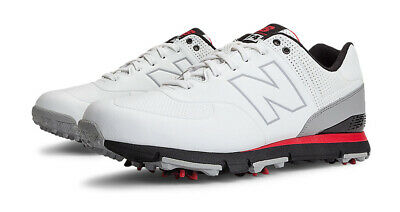 New Balance 574 Golf Shoes White/Red - Choose Size And Width