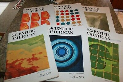 Scientific American Magazine lot Of 6 Vintage from 1969 Collectibles