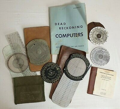 WWII US Army Air Corps US Air Force Dead Reckoning Computers E-6B E-11 MB-2A Etc