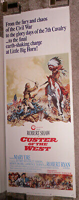CUSTER OF THE WEST original ROLLED 14x36 movie poster ROBERT SHAW/TY HARDIN