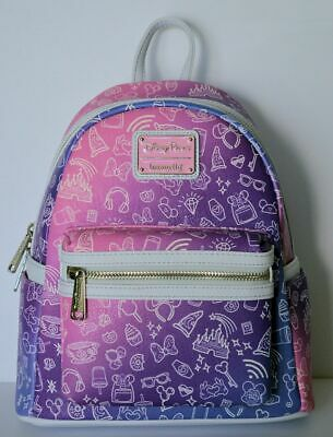 Disney Parks Pink and Purple Icons Mini Backpack by Loungefly New With Tags