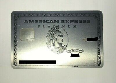 Expired/Used Metal American Express Platinum Card - Rare AmEx Credit Charge