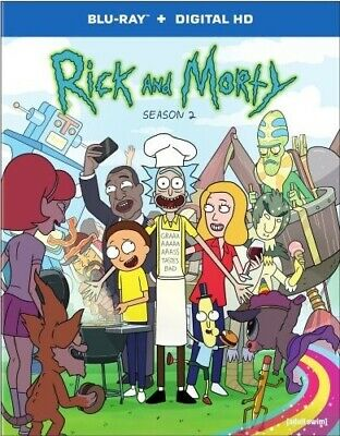 RICK AND MORTY TV SERIES COMPLETE SEASON 2 TWO New Sealed Blu-ray Adult Swim