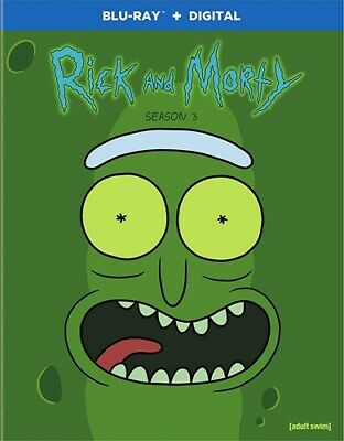 RICK AND MORTY TV SERIES COMPLETE THIRD SEASON 3 New Sealed Blu-ray