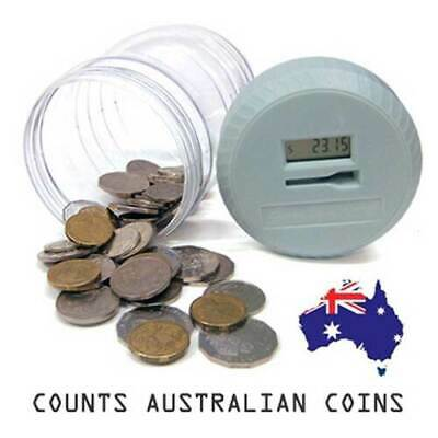 New Digital LED Display Coin Tokens Counts Counting Money Cash Piggy Bank Jar