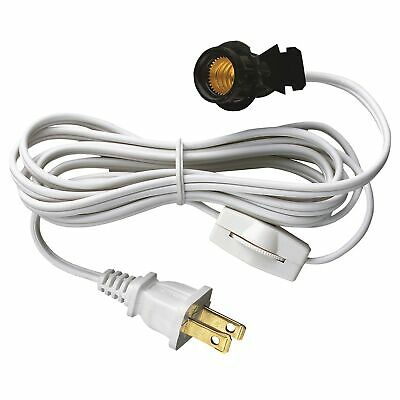 Westinghouse 7010800 6' White Cord Set With Pigtail, Base & White
