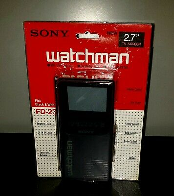 "SONY Watchman FD-230 Portable 2.7"" Black & White TV New Old Stock 1990"