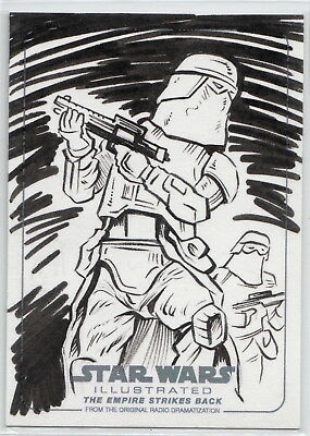 Star Wars Empire Strikes Back Stormtroopers Sketch Card by Jason Crosby