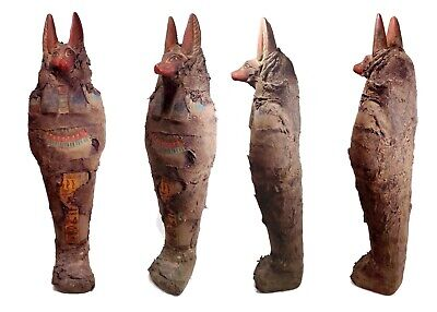 Egyptian Antiques Large Statue Anubis Jackal Dog Figurine Pharaoh Mummy Stone