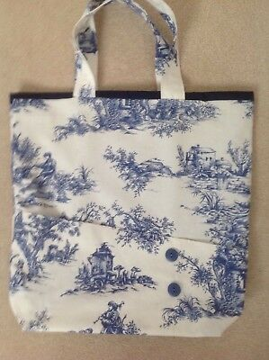 van-ESSA - HOBBY - French Style Blue and White Craft/Knitting Bag