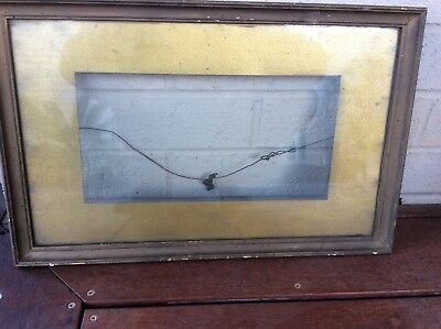 Decorative Old Antique Picture Frame Glass Front