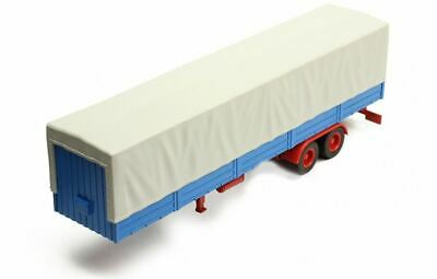 Truck Trailer with Canvas cover - Grey/Blue - Ixo