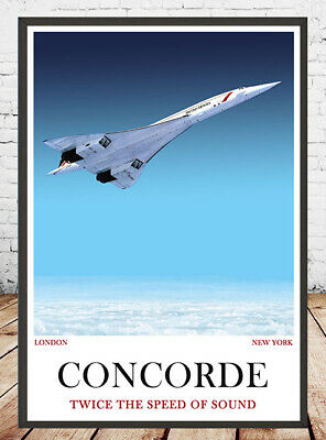 CONCORDE Airplane  Cutaway Poster with Details BAC/&SUD Aviation 51x 35.5cm