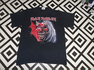 Mens Vintage 2003 T Shirt Gc Iron Maiden Large Band Heavy Metal