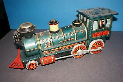 "RF2-21] Trade Mark Modern Toys Blechlokomotive "" WESTERN "" Made in Japan fährt"