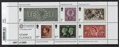 Gb 2019 Royal Mail Classics M/Sht Exclusive Stampex Overprint U/M
