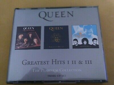 🌈 CD Queen Greatest Hits I II III Platinum Collection 3 CDs